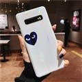 Black Love Mirror Surface Cases Blue Light Shell For Samsung Galaxy S9 Silicone Soft Covers - White