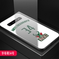 Bucks NBA Marble Aurora Laser Shell Glass Covers Protective Back Cases For Samsung Galaxy Note9 - Antetokounmpo White