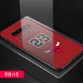 Bulls NBA Marble Aurora Laser Shell Glass Covers Protective Back Cases For Samsung Galaxy Note9 - Jordan Red