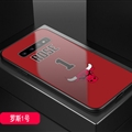Bulls NBA Marble Aurora Laser Shell Glass Covers Protective Back Cases For Samsung Galaxy Note9 - Rose Red