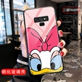 Cartoon Donald Duck Glass Mirror Surface Silicone Glass Covers Protective Back Cases For Samsung Galaxy Note9 - 01