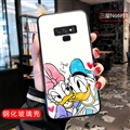 Cartoon Donald Duck Glass Mirror Surface Silicone Glass Covers Protective Back Cases For Samsung Galaxy Note9 - 02