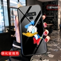 Cartoon Donald Duck Glass Mirror Surface Silicone Glass Covers Protective Back Cases For Samsung Galaxy Note9 - 04