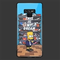 Cartoon Simpson Glass Mirror Surface Silicone Glass Covers Protective Back Cases For Samsung Galaxy Note9 - Sky Blue