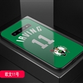 Celtics NBA Marble Aurora Laser Shell Glass Covers Protective Back Cases For Samsung Galaxy Note9 - Irving Green