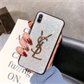 Classic Bling YSL Diamond Skin Cover Good Rhinestone Cases for Samsung Galaxy S9 - White