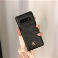 Classic Gucci Leather Pattern Shell Hard Back Covers For Samsung Galaxy S10 - Black