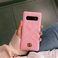 Classic Gucci Leather Pattern Shell Hard Back Covers For Samsung Galaxy S10 - Pink