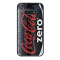 Coca-Cola Surface Lanyards Cases Shell For Samsung Galaxy S10E Silicone Soft Covers - Black
