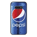 Coca-Cola Surface Lanyards Cases Shell For Samsung Galaxy S10E Silicone Soft Covers - Blue