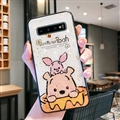 Cute Bear Surface Cases For Samsung Galaxy S10E Silicone Soft Covers - White