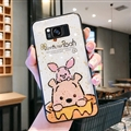 Cute Bear Surface Cases For Samsung Galaxy S8 Silicone Soft Covers - White