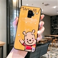 Cute Bear Surface Cases For Samsung Galaxy S9 Silicone Soft Covers - Yellow