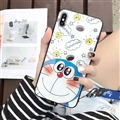 Doraemon Glass Mirror Surface Silicone Glass Covers Protective Back Cases For Samsung Galaxy Note9 - White