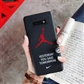 Fashion AJ Jordan Mirror Surface Cases Shell For Samsung Galaxy S10E Silicone Soft Covers - Black