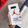 Fashion AJ Jordan Mirror Surface Cases Shell For Samsung Galaxy S10E Silicone Soft Covers - White