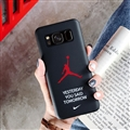 Fashion AJ Jordan Mirror Surface Cases Shell For Samsung Galaxy S8 Silicone Soft Covers - Black