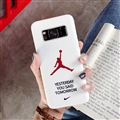 Fashion AJ Jordan Mirror Surface Cases Shell For Samsung Galaxy S8 Silicone Soft Covers - White