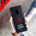 Fashion AJ Jordan Mirror Surface Cases Shell For Samsung Galaxy S9 Silicone Soft Covers - Black