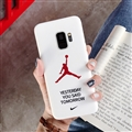 Fashion AJ Jordan Mirror Surface Cases Shell For Samsung Galaxy S9 Silicone Soft Covers - White