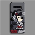Fashion Mickey Mouse Skin Matte Covers Protective Back Cases For Samsung Galaxy S10 - Black