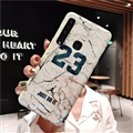 Fashion Stone Print Blue Light Mirror Surface Cases Shell For Samsung Galaxy A9s Silicone Soft Covers - White