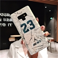 Fashion Stone Print Blue Light Mirror Surface Cases Shell For Samsung Galaxy Note9 Silicone Soft Covers - White