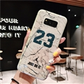 Fashion Stone Print Blue Light Mirror Surface Cases Shell For Samsung Galaxy S8 Silicone Soft Covers - White