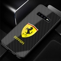 Ferrari Glass Mirror Surface Silicone Glass Covers Protective Back Cases For Samsung Galaxy S10E - 07