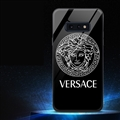 Internet Celebrity Versace Glass Mirror Surface Silicone Glass Covers Protective Back Cases For Samsung Galaxy S10E - Black