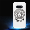 Internet Celebrity Versace Glass Mirror Surface Silicone Glass Covers Protective Back Cases For Samsung Galaxy S10E - White