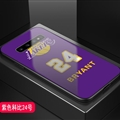 Lakers NBA Marble Aurora Laser Shell Glass Covers Protective Back Cases For Samsung Galaxy Note9 - Bryant Purple