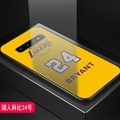 Lakers NBA Marble Aurora Laser Shell Glass Covers Protective Back Cases For Samsung Galaxy Note9 - Bryant Yellow