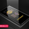 Lakers NBA Marble Aurora Laser Shell Glass Covers Protective Back Cases For Samsung Galaxy Note9 - Bryant Black