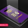 Lakers NBA Marble Aurora Laser Shell Glass Covers Protective Back Cases For Samsung Galaxy Note9 - James Purple