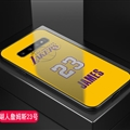 Lakers NBA Marble Aurora Laser Shell Glass Covers Protective Back Cases For Samsung Galaxy Note9 - James Yellow