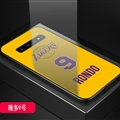 Lakers NBA Marble Aurora Laser Shell Glass Covers Protective Back Cases For Samsung Galaxy Note9 - Rondo Yellow