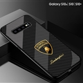 Lamborghini Glass Mirror Surface Silicone Glass Covers Protective Back Cases For Samsung Galaxy S10E - 08