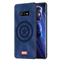 Marvel Captain America Surface Lanyards Cases Shell For Samsung Galaxy S10E Silicone Soft Covers - Blue