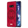 Marvel Iron Man Surface Lanyards Cases Shell For Samsung Galaxy S10E Silicone Soft Covers - Red