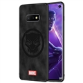 Marvel Panther Surface Lanyards Cases Shell For Samsung Galaxy S10E Silicone Soft Covers - Black