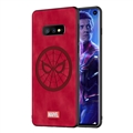 Marvel Spider Man Surface Lanyards Cases Shell For Samsung Galaxy S10E Silicone Soft Covers - Red