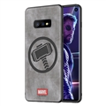 Marvel Thor Surface Lanyards Cases Shell For Samsung Galaxy S10E Silicone Soft Covers - Gray
