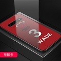 Miami Heat NBA Marble Aurora Laser Shell Glass Covers Protective Back Cases For Samsung Galaxy Note9 - Wade  Red