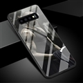 NBA Bryant Glass Mirror Surface Silicone Glass Covers Protective Back Cases For Samsung Galaxy S10 - Black