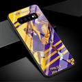 NBA Bryant Glass Mirror Surface Silicone Glass Covers Protective Back Cases For Samsung Galaxy S10 - Purple