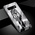 NBA Bryant Silhouette Glass Mirror Surface Silicone Glass Covers Protective Back Cases For Samsung Galaxy S10 - Black