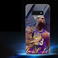 NBA Crown James Glass Mirror Surface Silicone Glass Covers Protective Back Cases For Samsung Galaxy S10E - Purple