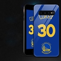 NBA Curry Glass Mirror Surface Silicone Glass Covers Protective Back Cases For Samsung Galaxy S10 - 03