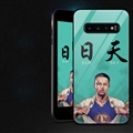 NBA Curry Glass Mirror Surface Silicone Glass Covers Protective Back Cases For Samsung Galaxy S10 - 04